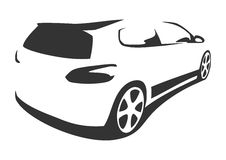 Sports car silhouette. For print or for site Royalty Free Stock Photography