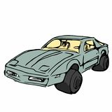 Sports car sketch, illustration. Stock Images