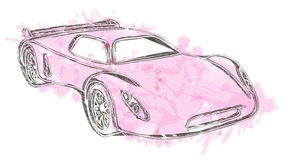Sports car sketch.Own design. Stock Image