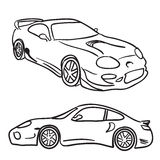 Sports Car Sketches Royalty Free Stock Image