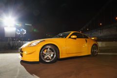 Free Sports Car Stands Near Large Bridge Stock Photography - 23996842