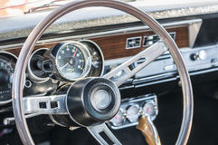Sports car steering wheel Stock Image