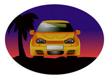 Sports car sunset Stock Image