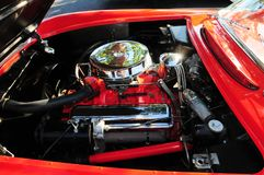 Sports car v8 engine Stock Image