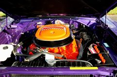 Sports car v8 engine Royalty Free Stock Images