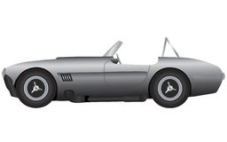 Sports Car Vector. A vector illustration of the side view of an expensive sports car. This is a cobra Royalty Free Stock Image