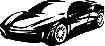 Sports car vector. Sports car driving fast vector vector illustration