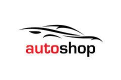 Sports car vehicle silhouette Stock Photography