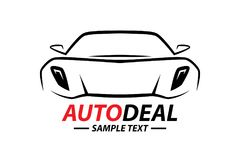 Sports car vehicle silhouette logo design Royalty Free Stock Photos