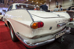 Sports car Volvo P1800, 1964. Rear view. MAASTRICHT, NETHERLANDS - JANUARY 14, 2016: Sports car Volvo P1800, 1964. Rear view. International Exhibition Royalty Free Stock Image
