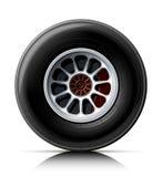 Sports car wheel vector illustration