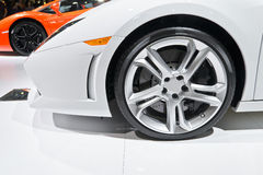 Sports car wheel Royalty Free Stock Images