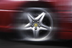 Sports car wheel Stock Photos