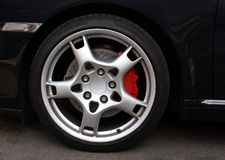 Sports Car Wheel,. Wheel from an expensive sports car coupe Stock Photography