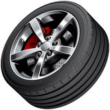 Sports car wheel Stock Photo