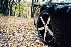 Sports car wheel Royalty Free Stock Photography