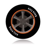 Sports car wheel, race tire Stock Photo