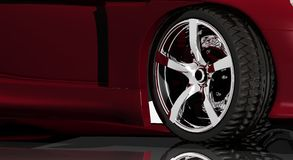 Sports car wheel and rim Royalty Free Stock Image