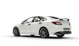 Sports Car White Stock Photo