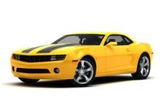 Sports car. Yellow sports car on white background Stock Photo