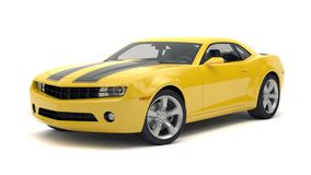 Sports car. Yellow sports car on white background Royalty Free Stock Photography
