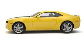 Sports car. Yellow sports car on white background Stock Photos