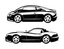 Sports cars. Vector illustration of  sports car and replica car Royalty Free Stock Photos