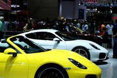 Sports cars at the auto show Royalty Free Stock Image