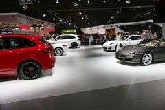 Sports cars at the auto show Stock Photos
