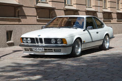 Sports cars BMW 6 series E24  in the street of town Stock Image