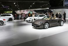 Sports cars on display Stock Image