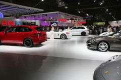 Sports cars on display Royalty Free Stock Image