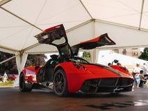 Sports Cars, Pagani Hyuara. Italian super sports car - Pagani Huyara 2016.  Super-Sports Cars. Motor Show - Legends Prague 2017 Royalty Free Stock Photos