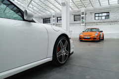 Sports cars. Porsche 911 GT3 RS, 911 Turbo Stock Image