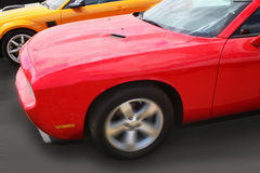 Sports cars race Stock Photography