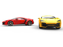 Sports Cars - Red and Yellow Royalty Free Stock Photos