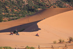 Sports cars for sand dunes Stock Images