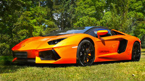 Sports Cars, Super-cars, Lamborghini Aventador stock images