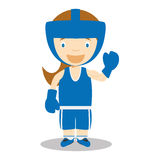 Sports cartoon vector illustrations: Boxing (female) Royalty Free Stock Photography