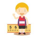 Sports cartoon vector illustrations: Long Jump Royalty Free Stock Photo
