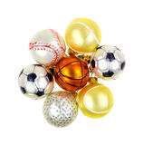 Sports Christmas Ornaments Stock Photography