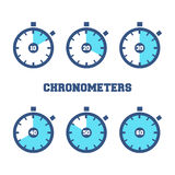 Sports Chronometers Time Laps Stock Photos