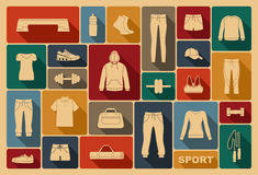 Sports clothing, equipment and accessories Stock Photo