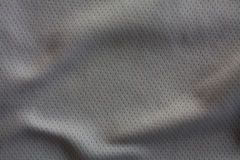Sports clothing fabric jersey. Gray color sports clothing fabric jersey Royalty Free Stock Images