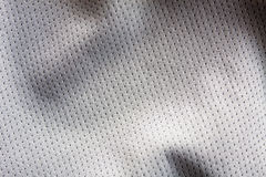 Sports clothing fabric jersey. Gray color sports clothing fabric jersey Royalty Free Stock Image