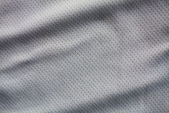 Sports clothing fabric jersey. Gray color sports clothing fabric jersey Stock Images