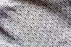 Sports clothing fabric jersey. Gray color sports clothing fabric jersey Royalty Free Stock Photography