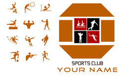 Sports club concept design and bonus Royalty Free Stock Photography