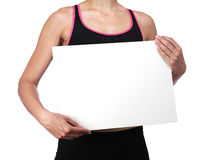Sports coach holding a white board Royalty Free Stock Photo