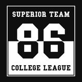 Sports, College league t-shirt graphics. Number sport typography. Print, t-shirt graphic. Vector Royalty Free Stock Image